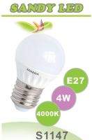 SANDRIA LED žárovka E27 S1147 SANDY LED E27 B45 4W SMD 4000K