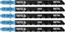 Yato List pilový do přímočaré pily 100 mm na kov TPI24-10 5 ks YT-3415