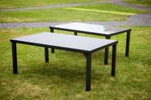 DIMENZA zahradní jídelní stůl VADUZ s hliníkovou konstrukcí Typ desky: Mléčné sklo - DF-010166