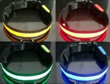 Svítící a blikající obojek pro psy, pásek pro chodce a cyklisty velikost  M, barva modrá