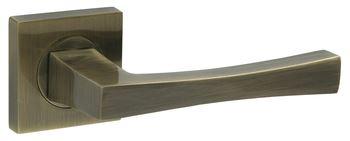Dveřní dělené rozetové kování LOGO-QR  Klika štít hranatý