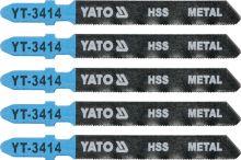 Yato List pilový do přímočaré pily na kov typ T 32TPI sada 5 ks YT-3414