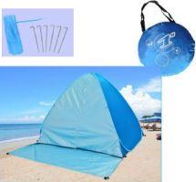 Plážový stan samorozkládací - samostavěcí s uzaviratelným vstupem vel. 200 - postavený za pár vteřin