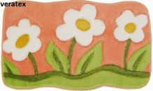 VERATEX Koupelnová předložka LUX květy 60x100 cm
