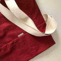 Aesthetic Taška lněná L s kapsou - Red