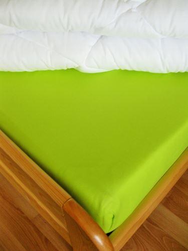 VERATEX Bavlněné prostěradlo jednolůžko 140x220 cm (žlutozelené)