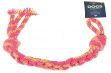 Hračka pro psy, uzel DOGS (50cm) - Růžový - 8719987067280