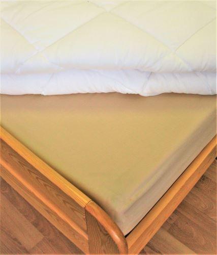 VERATEX Bavlněné prostěradlo s gumou  90x200 cm do výšky matrace 15 cm (béžové)