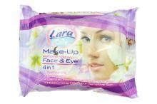 Vlhčené ubrousky na odstranění make-upu LARA 20ks PH5.5 - Fialové balení - 8699444260440