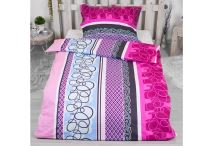 Luxusní RANFORCE Bavlněné povlečení 140x200+70x90 - Purple spin - 8592753027073