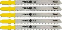 Vorel List do přímočaré pily 100 mm na dřevo TPI10 5 ks TO-27810