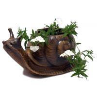 Keramický šnek - střední květináč