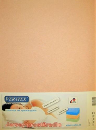 VERATEX Jersey prostěradlo 120x200 cm (č.29-béžová)