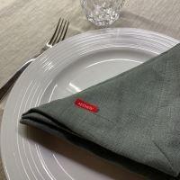 Aesthetic Lněný jídelní ubrousek - 100% len khaki