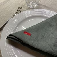 Aesthetic Lněný jídelní ubrousek - 100% len Olive Green