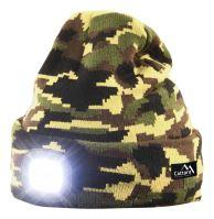 Cattara Čepice ARMY s LED svítilnou USB nabíjení 14020