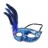 Maska plesová s peřím (8590687207875)