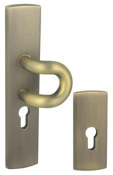 Vchodové kování FOKUS K+ P Klika dlouhý štít vchodová