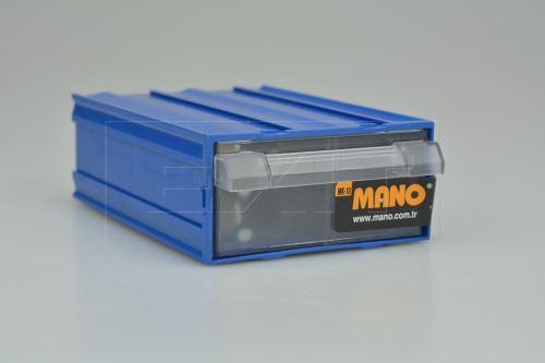 Plastový organizér do dílny MANO MK-10 (12x8.5x4cm) - Modrý - 8697444381400
