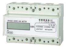 Elektroměr na DIN lištu třífázový digitální měřič spotřeby wattmetr Hütermann HT-3PD