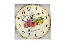 Nástěnné hodiny Home Decor (34cm) - Levandule - 8591022441060