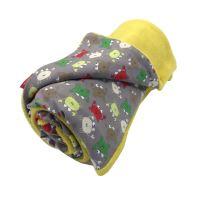 Aesthetic Deka dětská celoroční oboustranná - žlutá curry mikroplyš / krab béžová bavlna Rozměr: 72 x 100 cm