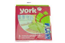 Houbová utěrka YORK 17.5x15.5cm - Mix barev, 3ks - 5903355002802