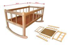 Dřevěná kolébka 50 x 28  cm (8590687112087)