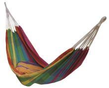 DIMENZA komfortní a prostorná houpací látková síť pro jednu osobu vmnoha barevných provedeních. Barva: duhová - DF-003250