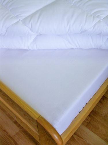 VERATEX Bavlněné prostěradlo 2Lůžko s gumou prodloužené 180 x 220/30cm (bílá)