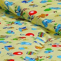 Stanex Dětské ložní povlečení bavlněné balónky žluté (LS304) Dětské ložní povlečení 135x90 + 45x65 - (LS304)