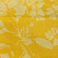 Aesthetic 100% LEN žluté květy 84x132cm