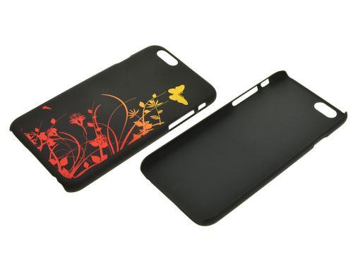 Plastový kryt na iphone 6 Plus - Motýly, černé - 8657988017579