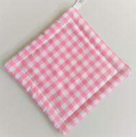 VERATEX Textilní podložka pod hrnec 20x20cm růžový kanafas tkaný