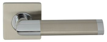 Dveřní dělené rozetové kování JARO-QR Klika štít hranatý