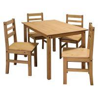 Stůl + 4 židle CORONA vosk IDEA nábytek