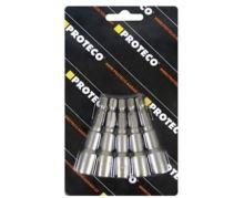 """PROTECO - 42.09-NH06-SADA - hlavice nástrčná 6 mm sada 5 ks s magnetem stopka 1/4"""""""