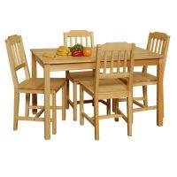 Stůl + 4 židle 8849 lak IDEA nábytek