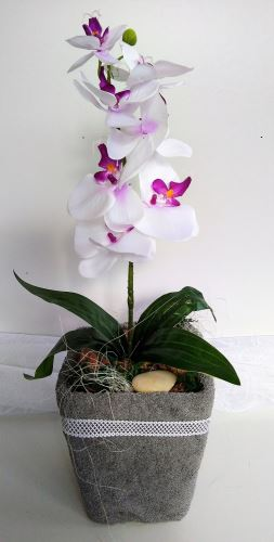 VERATEX Veratex Textilní dekorace orchidej