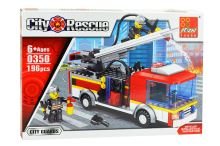 Stavebnice 0350, 196 dílků City Rescue - Hasiči - 0350
