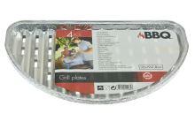 Grilovací hliníkové tácky BBQ - Set 4ks (32x19x1.8cm) - 8719202940848