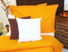 VERATEX Bavlněné povlečení oranžová 70x90 - 140x200cm
