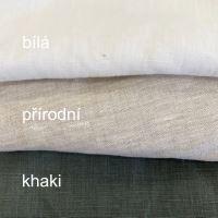 Aesthetic Lněná zástěra šatová s kapsami - 100% len - gramáž: 245 g/m2 MIX barev Barva: Olive Green, Velikost: Dospělá
