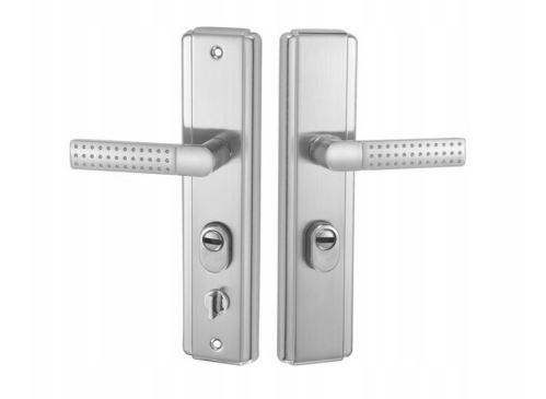 Kování klika/klika pro čínské bezpečné dveře ASIA K+K nikl PZ68