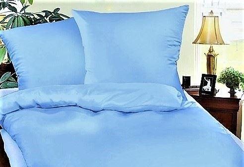 VERATEX Krepové povlečení prodloužené  70x90 + 140x220 cm (sv.modrá)