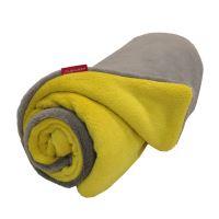 Aesthetic Deka dětská zimní oboustranná - šedá střední - žlutá curry Rozměr: 72 x 100 cm
