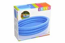 Modrý kulatý bazén se třemi nafukovacími prstenci - 147cm - 6941057454269