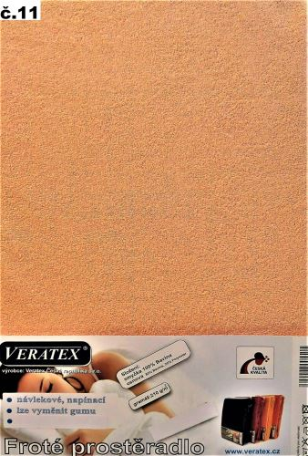 VERATEX Froté prostěradlo 180x220 cm (č.11-lososová)
