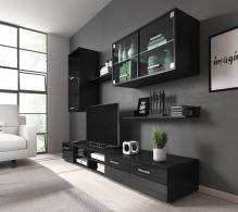 FALCO Obývací stěna Margarita černý lesk/LED - 0204010403