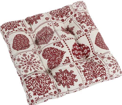 VERATEX Sedák prošívaný 40x40x cm srdce patchwork SKLADEM POSLEDNÍ 1KS